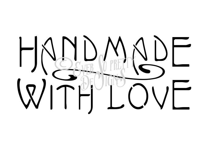 Download Stencil SVG Handmade With Love by EverSoPrettyDesigns on ...