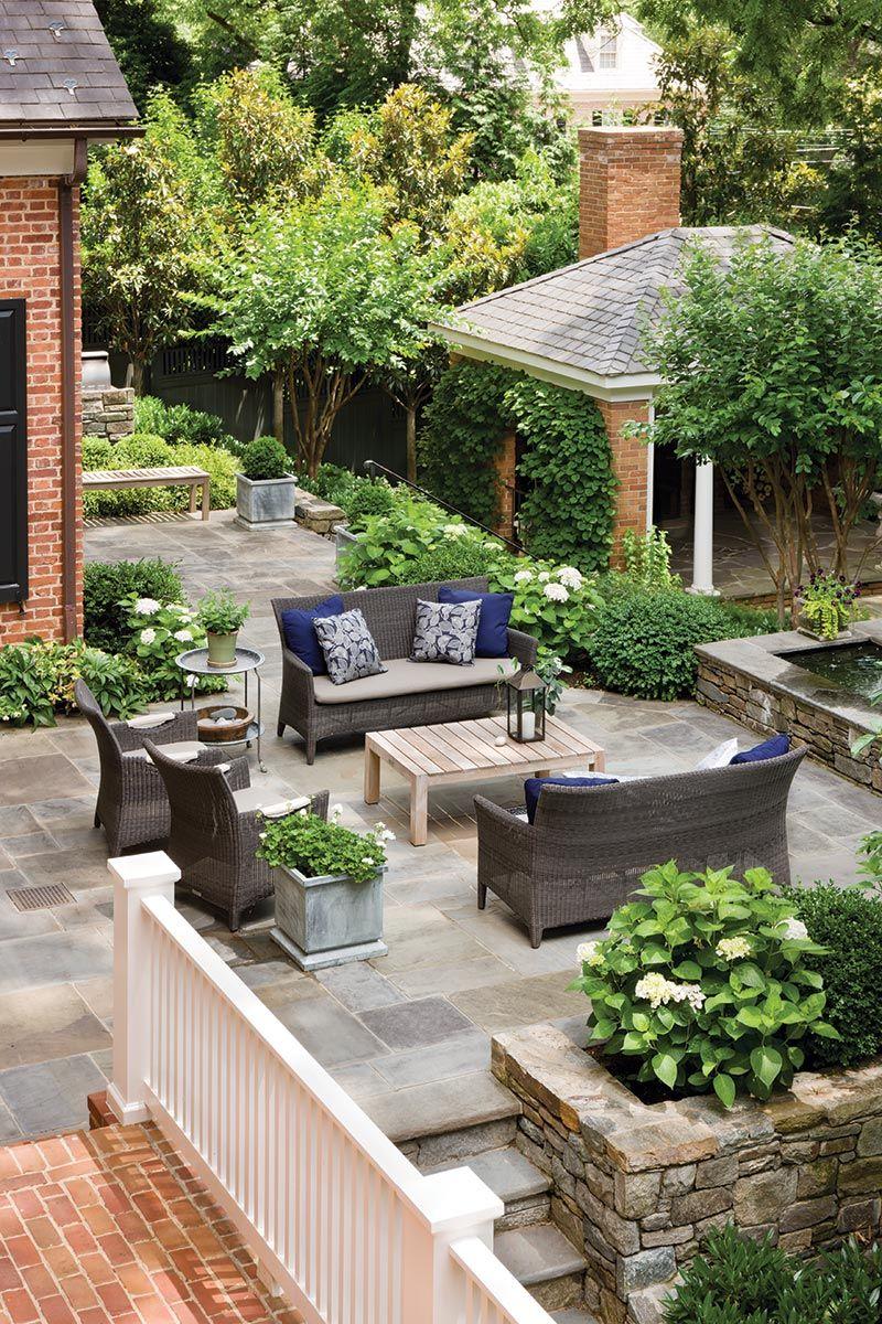 Pin By Carolyn Malin On Inspiring Garden Spaces Backyard Patio Small Backyard Landscaping Patio Layout