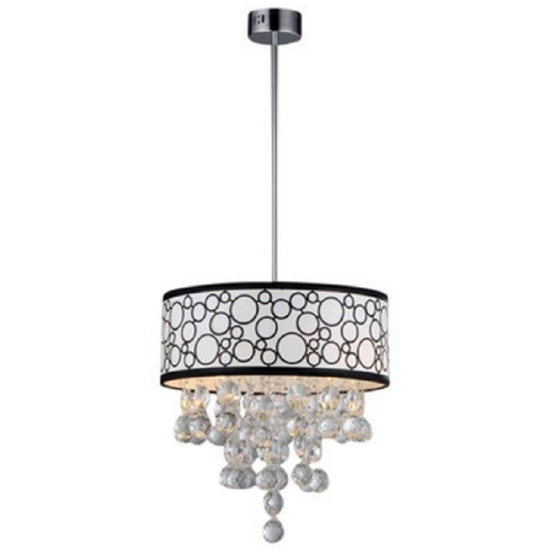 Warehouse of Tiffany RL7892 Crystal Polka Pendant Drum Ceiling Light