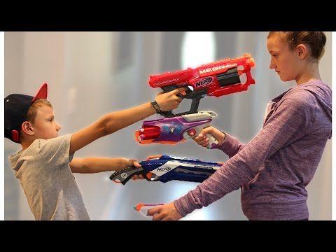 Nerf War: Boy vs Girl - YouTube