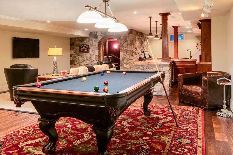 If Youre Planning To Have An Area Rug Underneath Your Pool Table - Rug under pool table