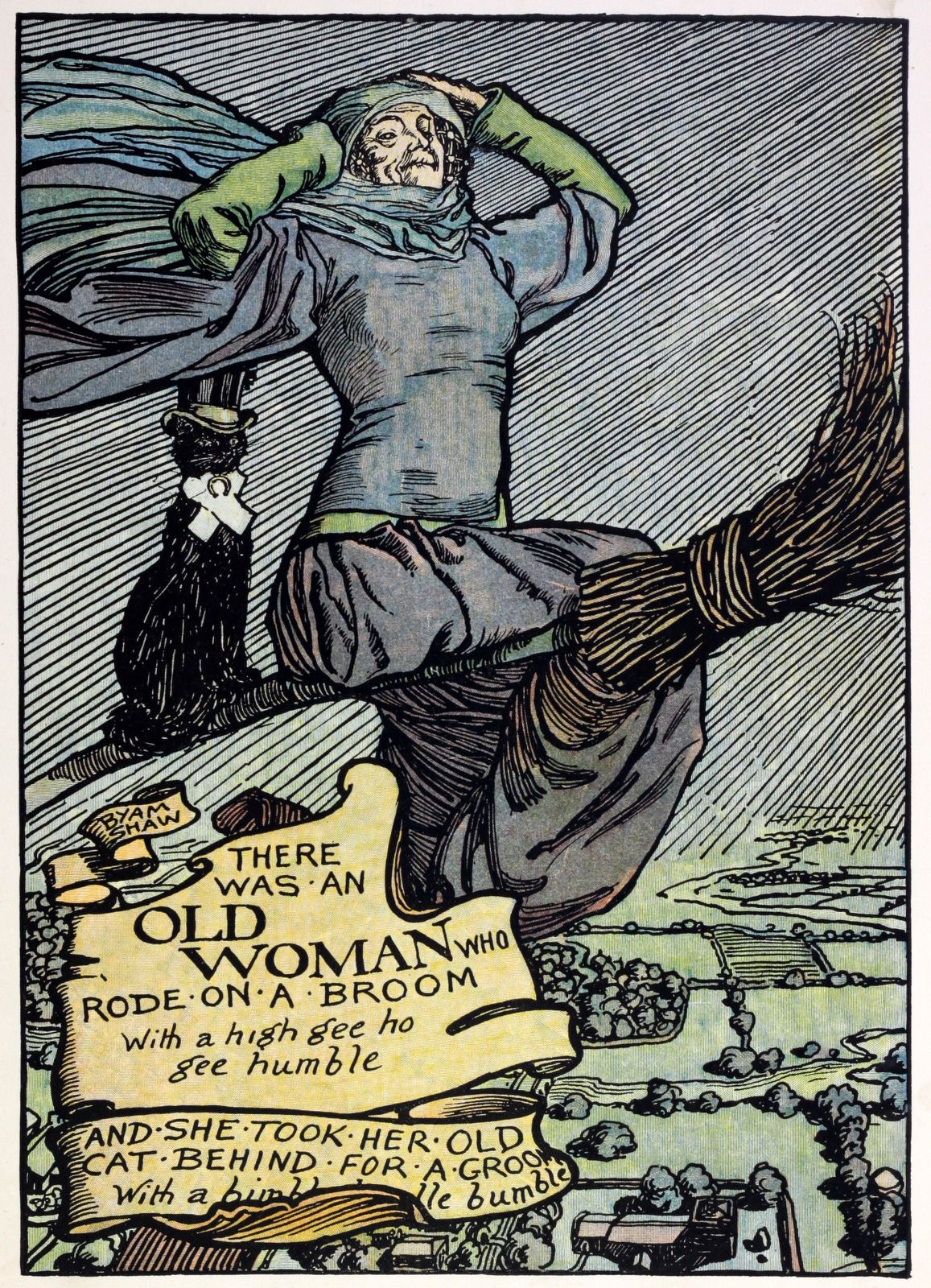 Witch From Old King Cole S Nursery Rhymes Illustrated