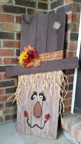Pallet Scarecrow Halloween Fall Pinterest Scarecrows