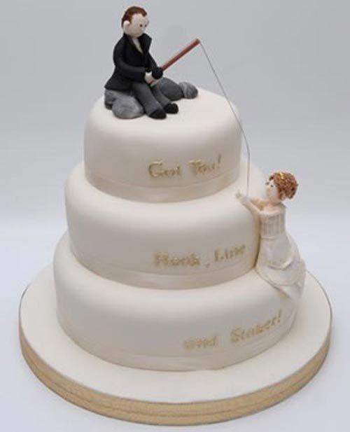Fishing Themed Wedding Fishing Theme For The Wedding Cake