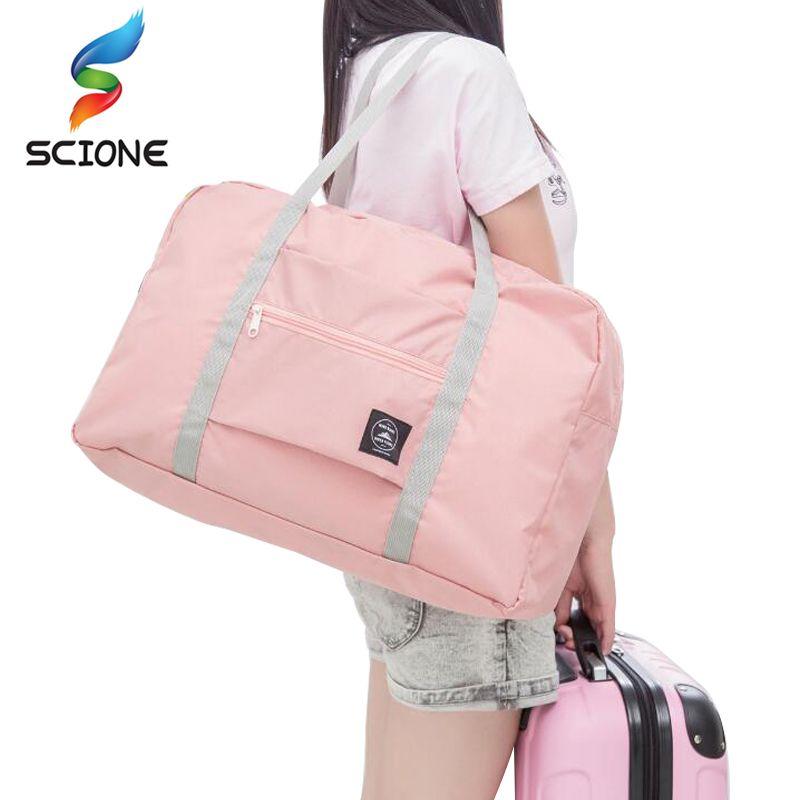 Travel Luggage Duffle Bag Lightweight Portable Handbag Black Girl Pattern Large Capacity Waterproof Foldable Storage Tote