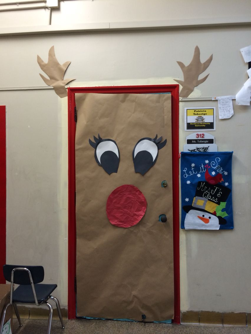 Reindeer Door Decoration | door | Pinterest | Christmas ...