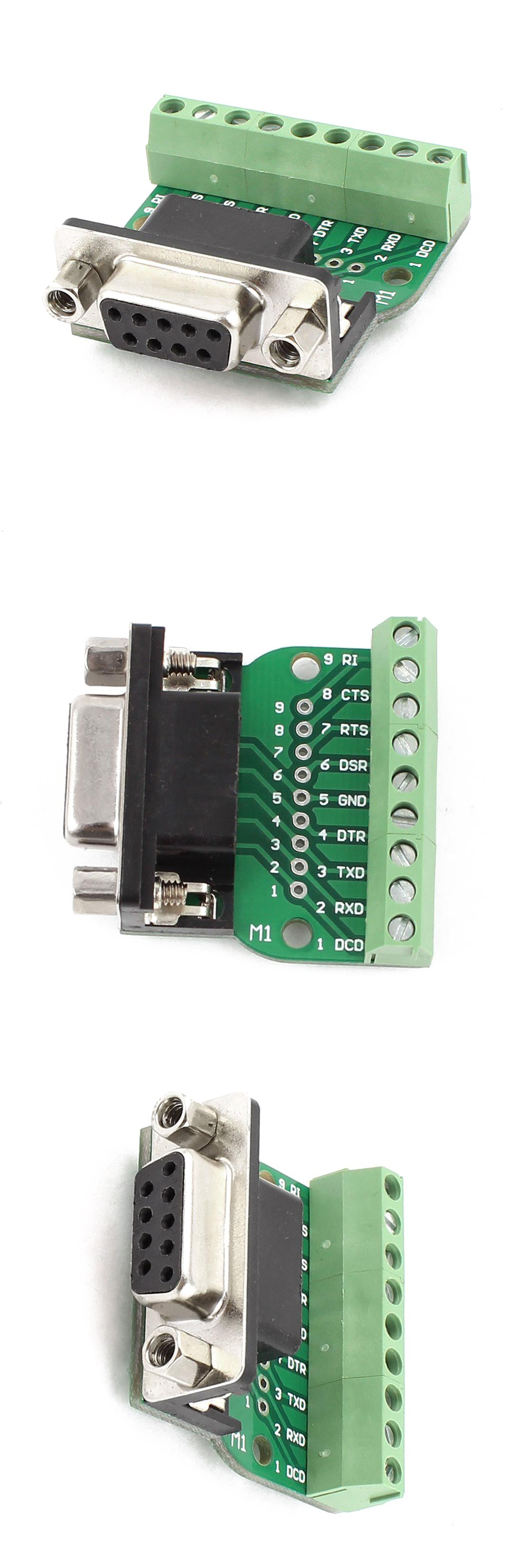 Visit to Buy] DB9 RS232 Serial to Terminal Female Adapter Connector
