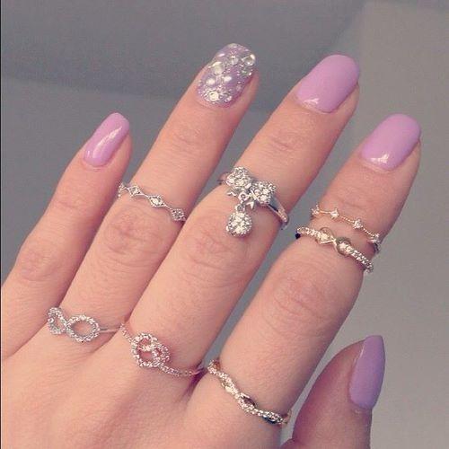 bling rhinestones rings rock candy princess jewelry