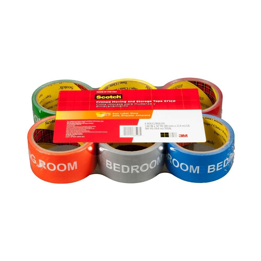 3M Scotch 1.88 in. x 30 yds. Printed Moving and Storage Tape (6-Pack)