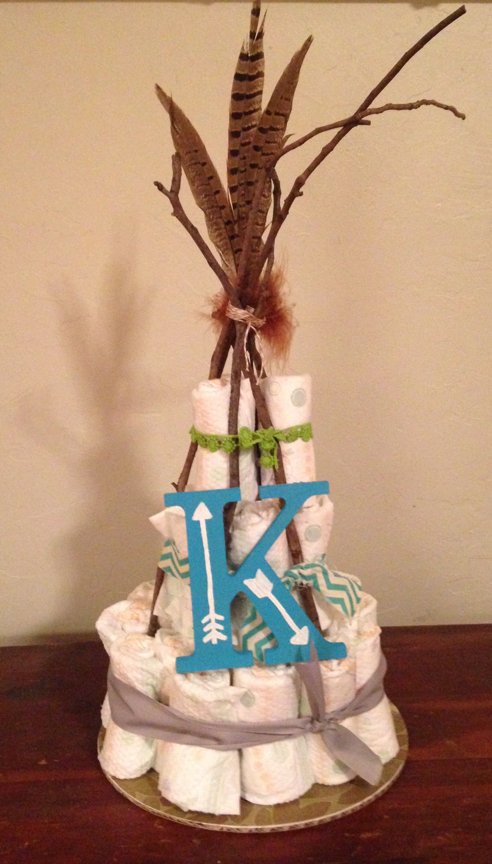 Native Baby Shower Themed Diaper Cake Make Your Diaper