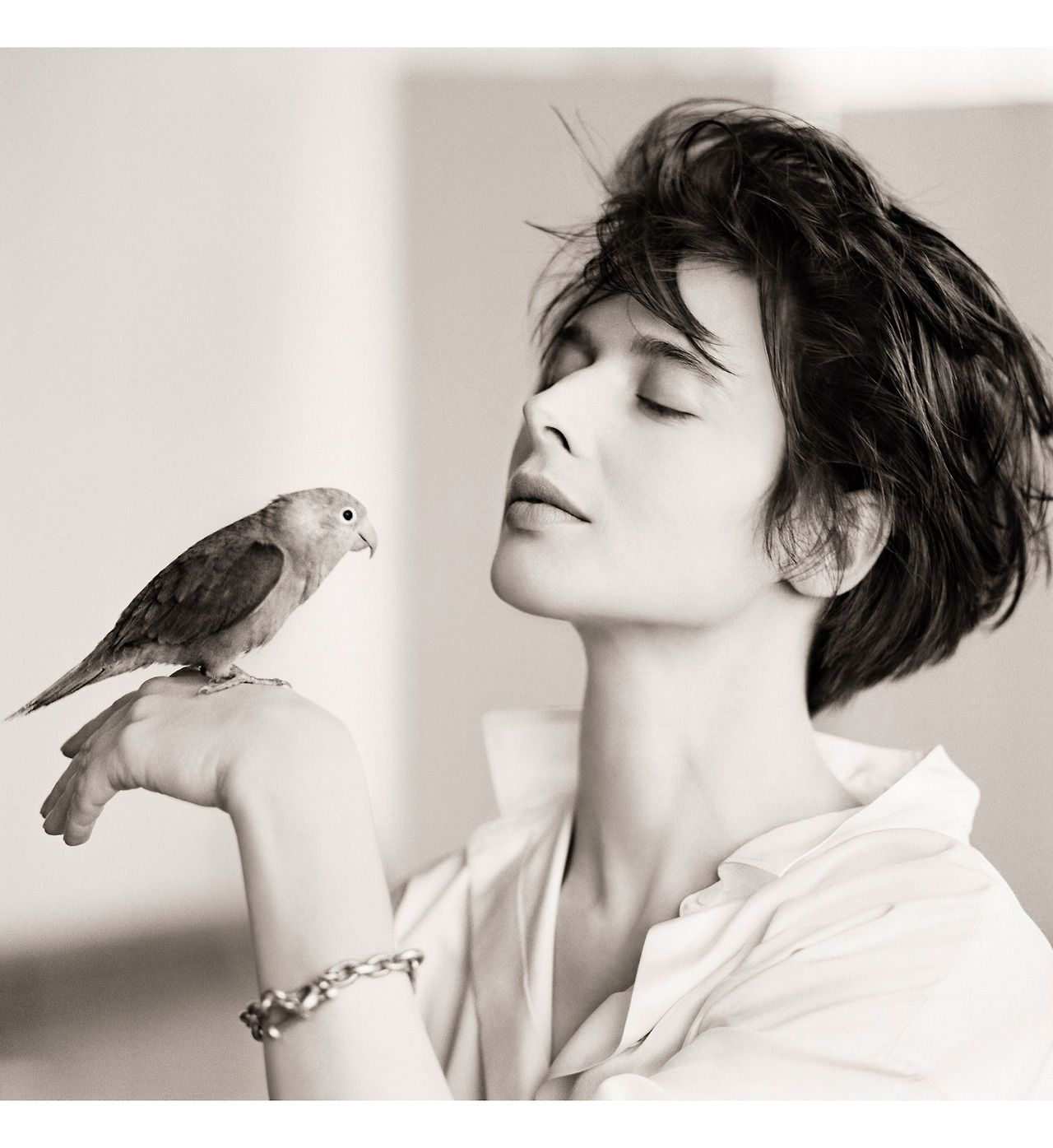 Isabella Rossellini Bird 1988 In Nyc Ph C Matthew Rolston
