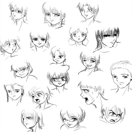 How To Draw Anime Facial Expressions Anime Faces Expressions Drawing Anime Bodies Manga Drawing