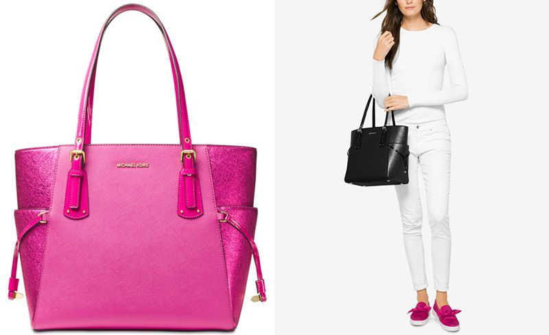 5c737fbf7c48ba Admiral Navy or Pink - MICHAEL Michael Kors Voyager East West Signature Tote  - Handbags & Accessories - Holiday Gift Guide - Macy's