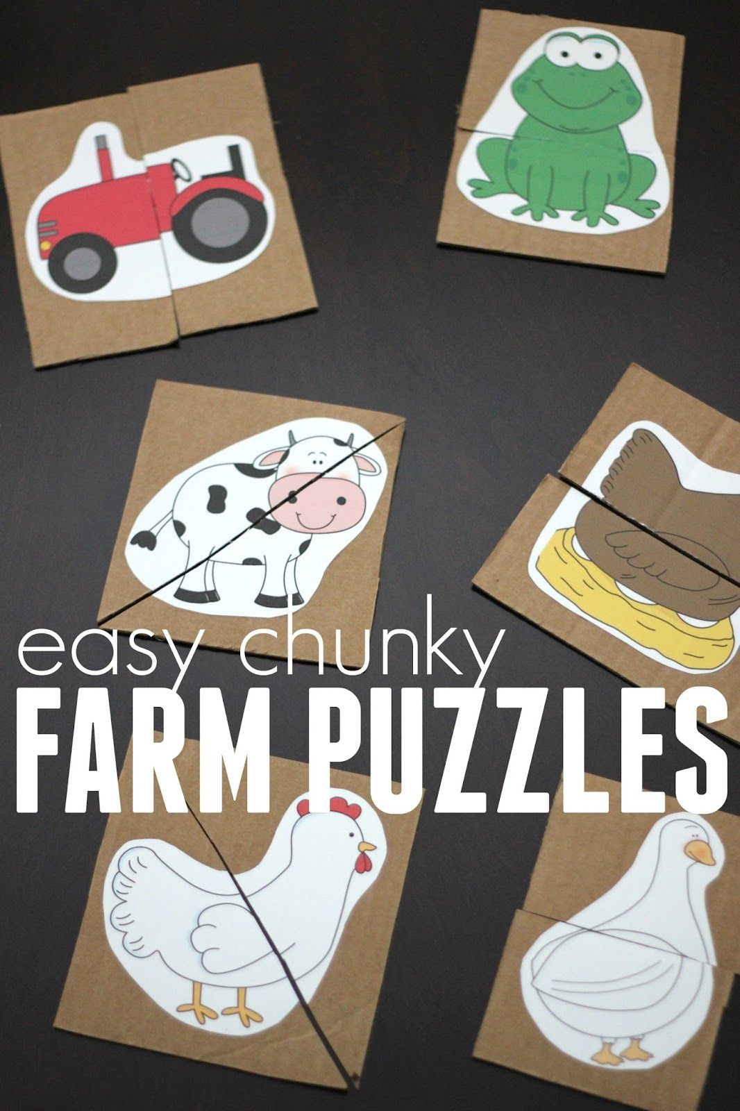 Hide And Match Farm Animal Puzzle Game