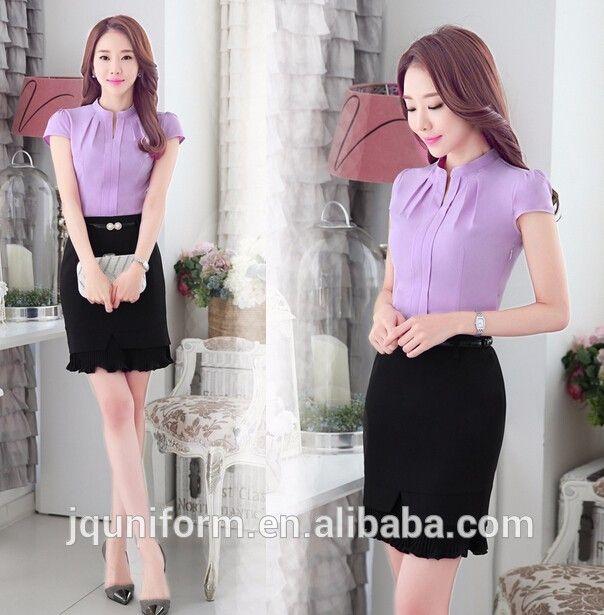 new designs office uniform blouse office uniform design 2018