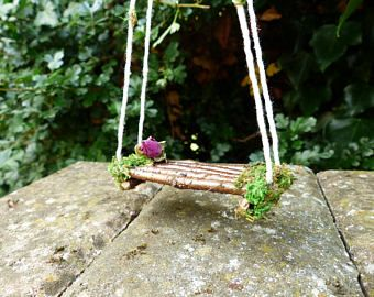 Superbe Fairy Swing   Pixie, Fairy Garden Swing, Miniature Swing, Fairy Garden,  Fairy House, Fairy Furniture, Fairy Accessories, Faery Garden, Fae