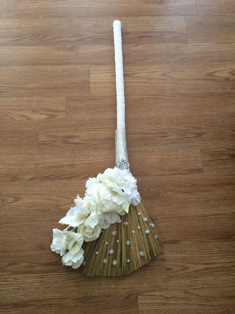 Diy Wedding Broom Wedding Broom Jumping The Broom Cream Wedding