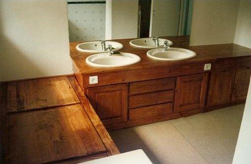 Salle de bain à partir d\u0027un meuble ancien wc/salle de bain
