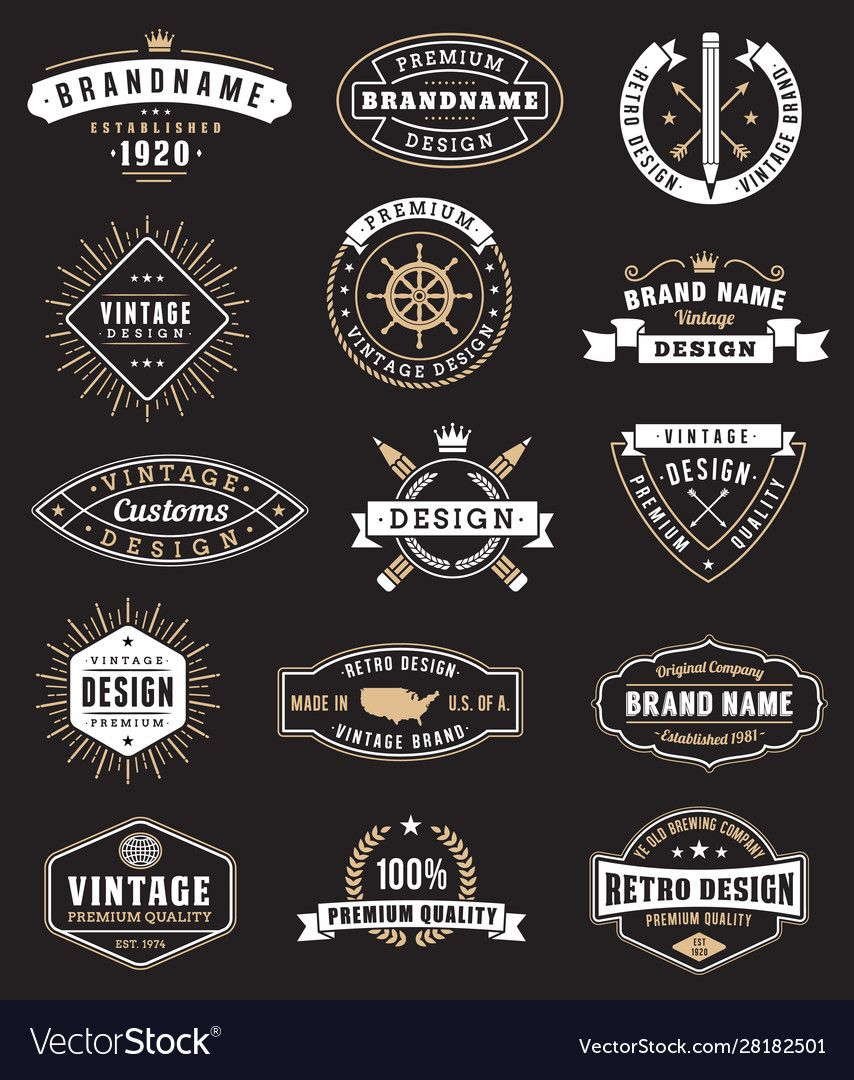 Vintage Logos And Insignas Royalty Free Vector Image Spon Insignas Logos Vintage Royalty Ad In 2020 Vector Art Design Vector Free Vintage Names