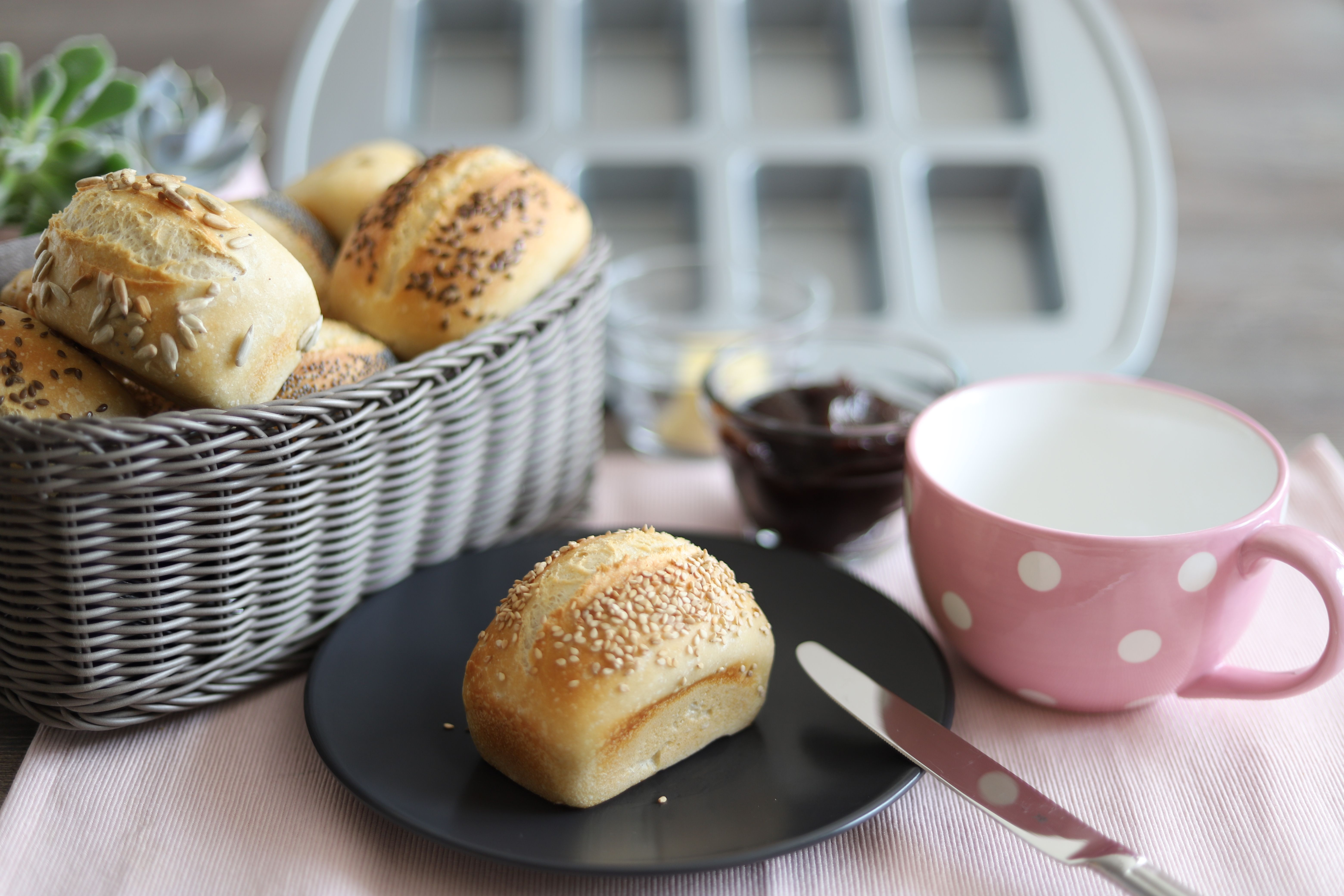 Ubernacht Brotchen In Der Mini Kuchen Form Von Pampered Chef Brot Selber Backen Rezept Mini Kuchen Pampered Chef
