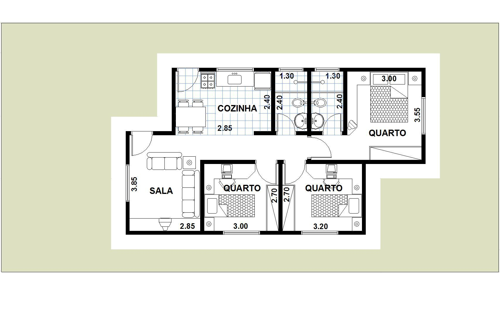 Resultado De Imagem Para Planta De Casa Simples Com Sala Cozinha E