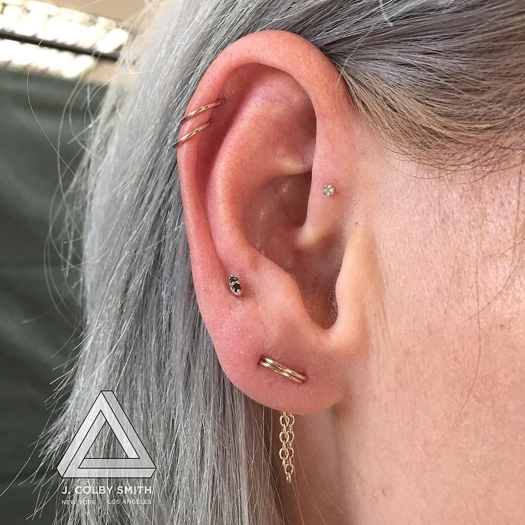 Healed nose piercing hole    A rose gold story for my friend jeaniexclark  Make sure