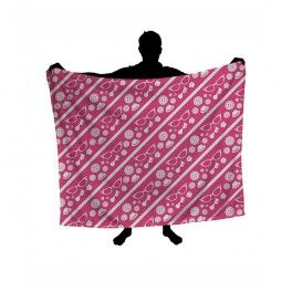 New Girl Pink And White Ribbons Blanket