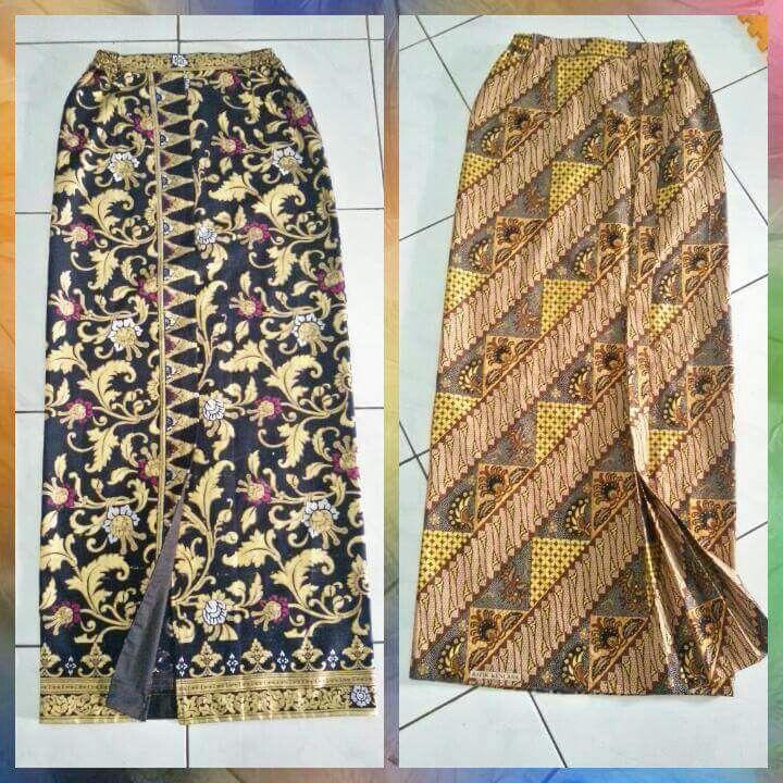 Rok batik (Dengan gambar) | Desain blus, Model pakaian ...