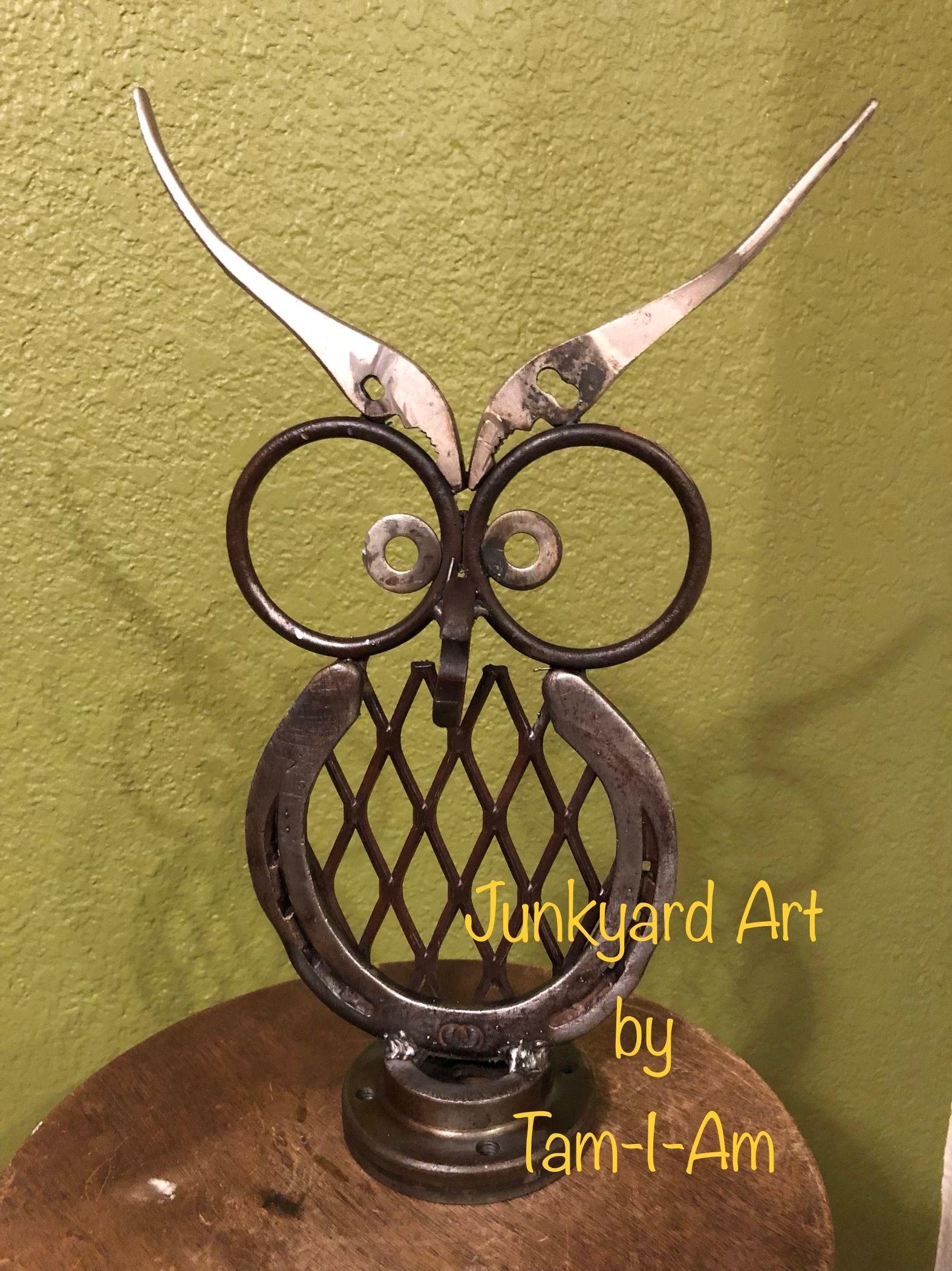 Junkyard Art by Tam-I-Am. Repurposed horseshoe, metal rings, and ...