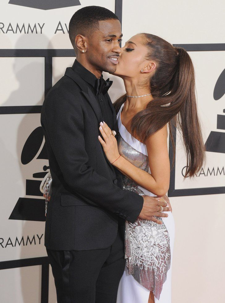Pin for Later: Love Was in the Air: 40 Sweet, Sexy Celebrity PDA Pictures From 2015 Big Sean and Ariana Grande