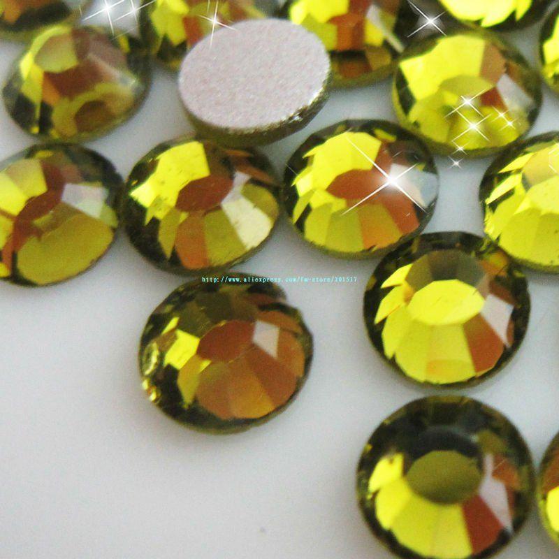 2014 seconds kill non hot-fix crystal bags garment nail art free shipping olivine flat back rhinestones ss8 220gross 22packs