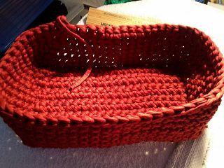 Kostenlose Anleitung Für Ein Korb Aus Textilgarn Häkeln Crochet