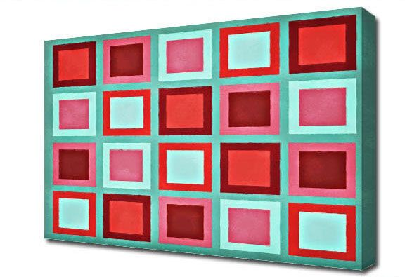 Retro Squares Reds http://www.the-canvas-art-shop.co.uk/products/RETRO-SQUARES-REDS-672026.aspx