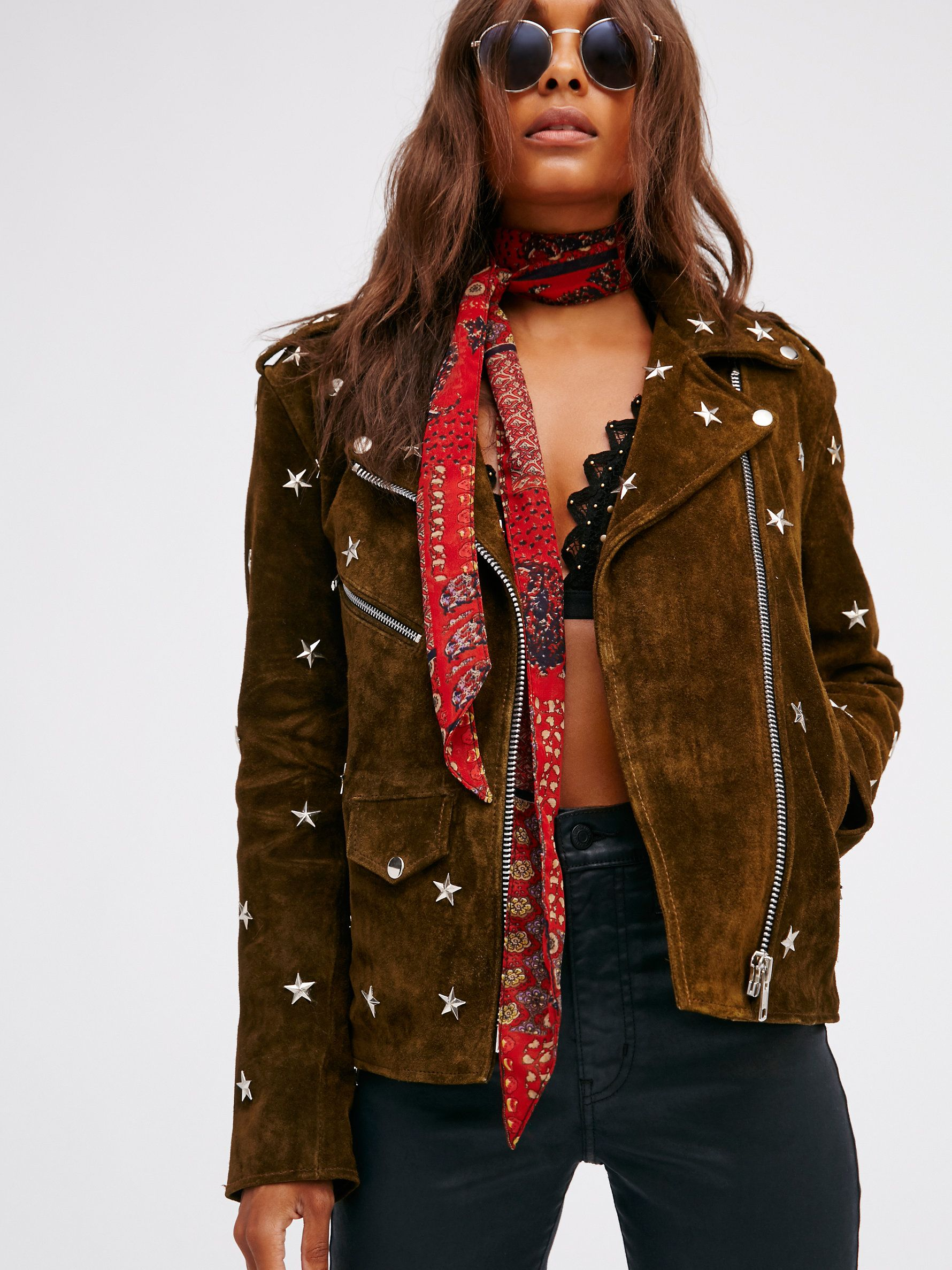 Star Studded Leather Jacket Studded leather jacket