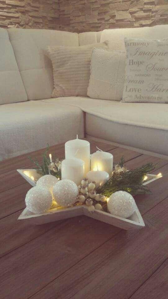 Weihnachtsdeko #centredetablenoelbois
