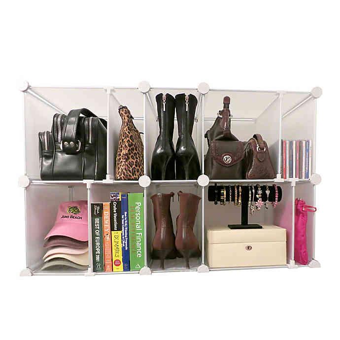 Luxury Living Park A Purse Modular Organizer In Clear Purse Organization Closet Accessories Organizing Purses In Closet