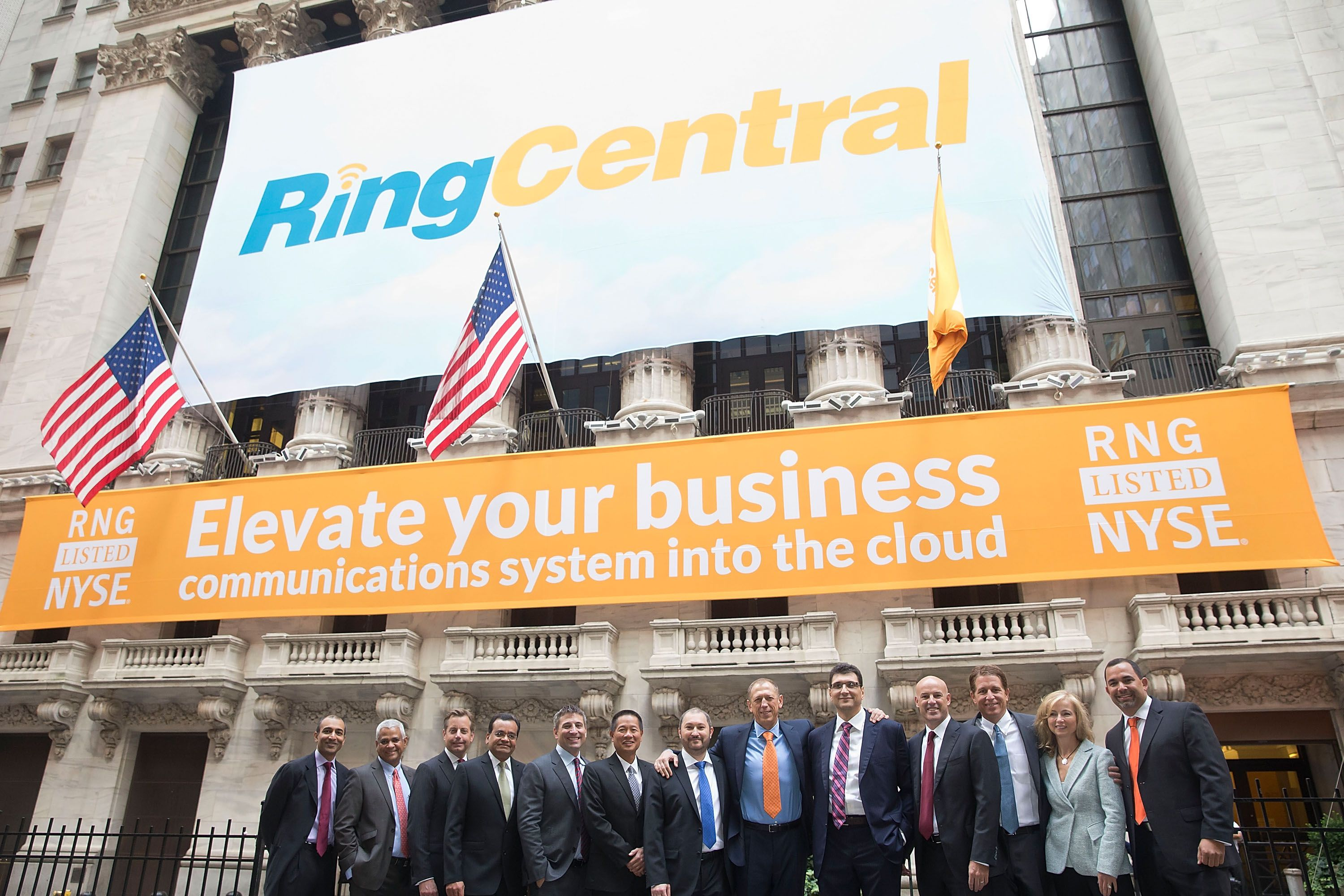 The behindthescenes photos from RingCentral's IPO