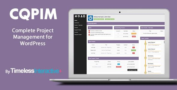 Cqpim WordPress Project Management Plugin