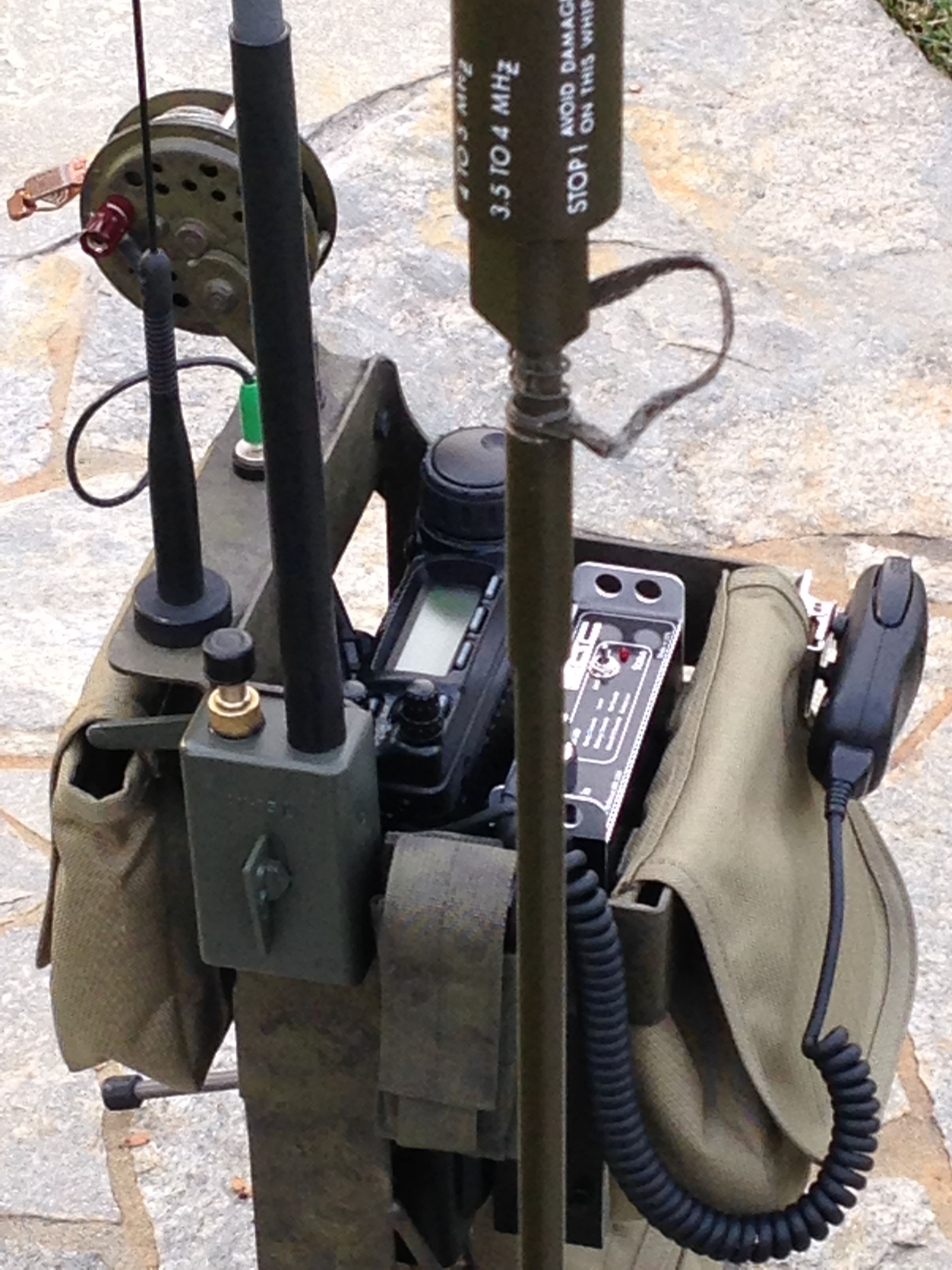 HF Manpack By: N6VOA | Ham | Ham radio equipment, Ham radio