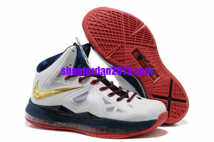 Women Nike Lebron 10 Medal/Gold Womens Basketball Shoes
