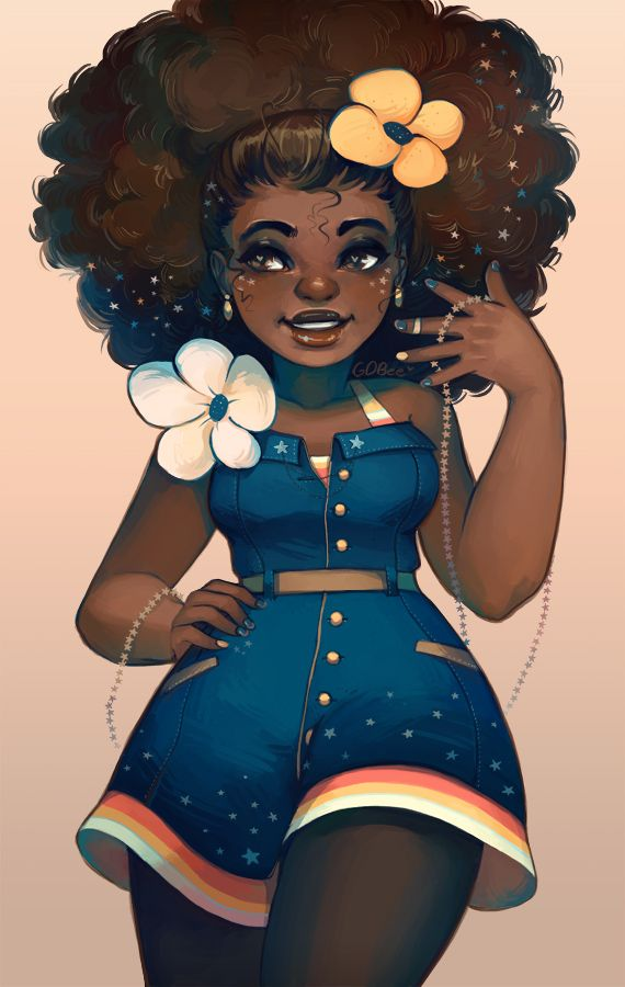 Stars And Denim By By Geneva Benton Contact Gbenton07 Gmail Com Gdbee Deviantart Com Http Instagram Com Black Girl Art Black Girl Magic Art Black Love Art