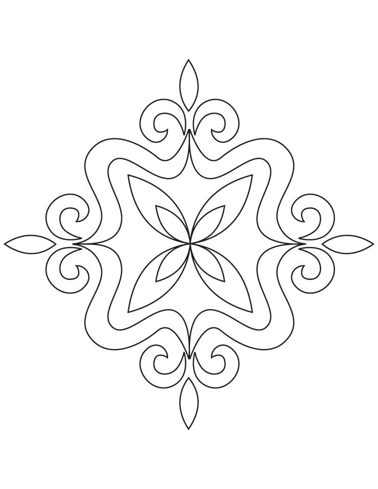 Rangoli coloring page pookolams rangoli with flowers for Rangoli coloring pages