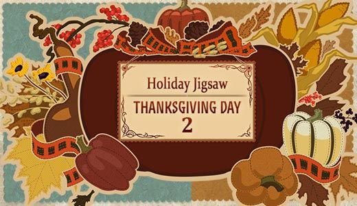Celebrate Thanksgiving Day as you solve colorful holiday jigsaw puzzles!  http://toomkygames.com/download-free-games/holiday-jigsaw-thanksgiving-day-2