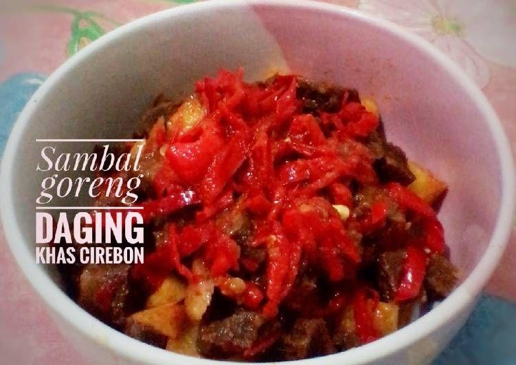 Resep 19 Sambal Goreng Daging Khas Cirebon Oleh Indah Triwiartuti Resep Kota Cirebon Resep Masakan Makanan