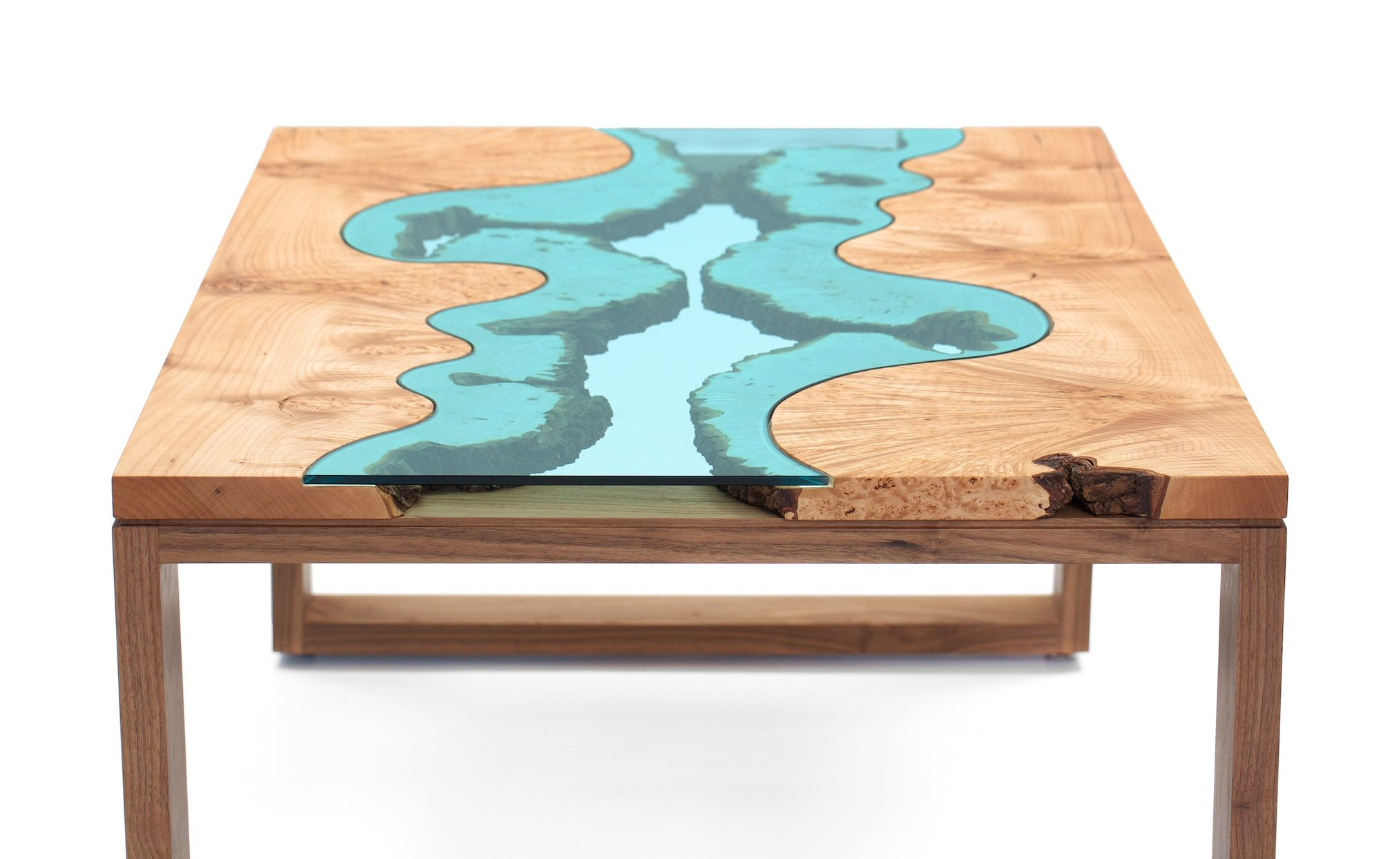 Burl River Coffee Table Greg Klassen Furniture