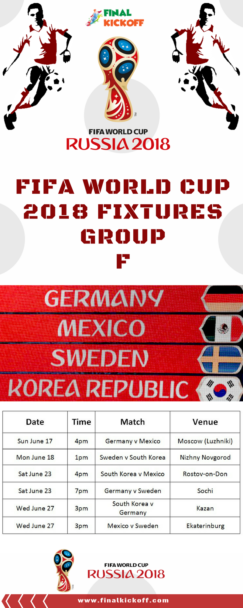 Fifa World Cup 2018 Match Schedule Group F World Cup Match World Cup 2018 Fifa World Cup