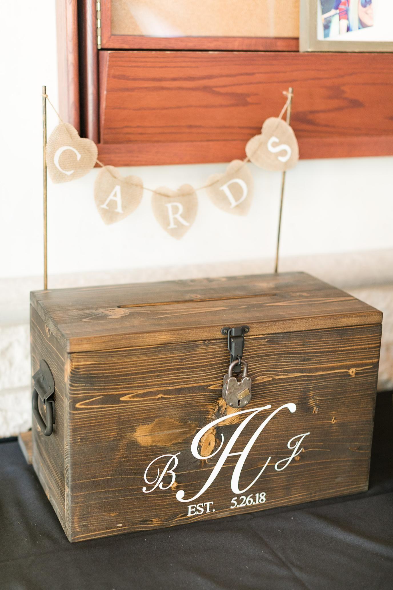 Bridget jim card box wedding diy rustic card box wedding