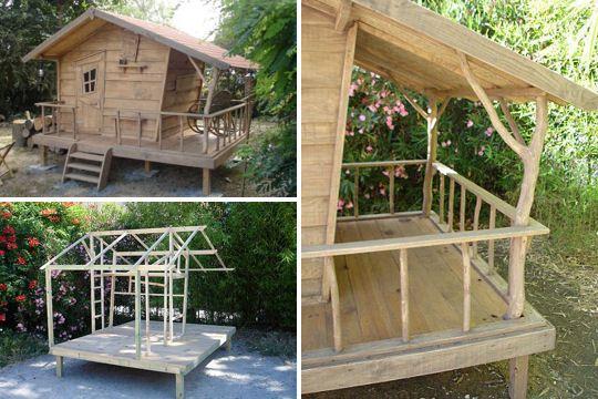 exemples de cabane pour enfants playhouses playrooms. Black Bedroom Furniture Sets. Home Design Ideas