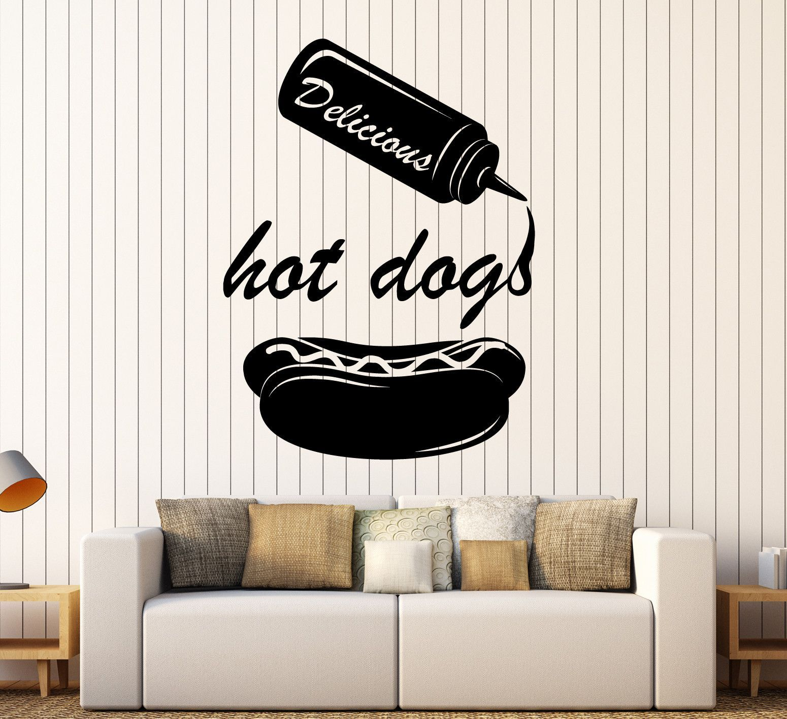 Vinyl Wall Decal Hot Dog Food Truck Fast Food Cooking