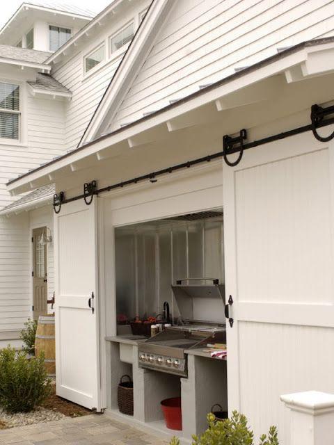 Love this outdoor kitchen idea.